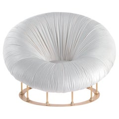 Jumbo Collection Hawking Armchair in Wood and Fabric