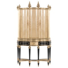 Jumbo Collection Hypnos Dry Bar in Wood with Antique Mirror