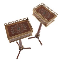 Jumbo Collection Ivy Side Table in Wood with Mahogany Finish