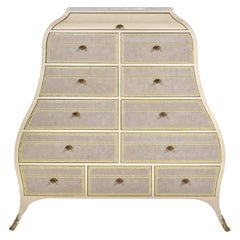 Jumbo Collection Large Madeleine Chests of Drawers in Wood and Onyx Top