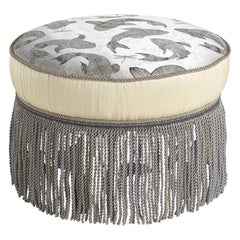 Jumbo Collection Madeleine Pouf in Wood and Fabric