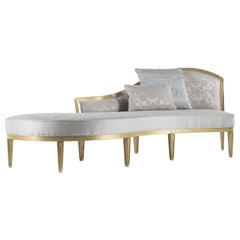 Jumbo Collection Madine Chaise Longue in Wood and Fabric