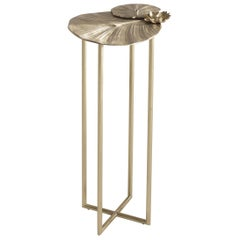 Jumbo Collection Monet Large Side Table in Cast Brass
