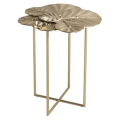 Jumbo Collection Monet Medium Side Table in Cast Brass