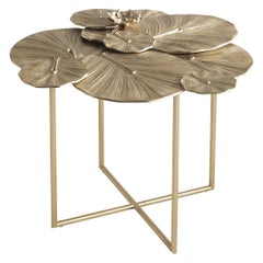 Jumbo Collection Monet Small Side Table in Cast Brass
