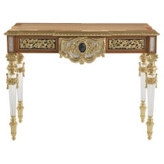 Jumbo Collection Mystere Console Table with Detailed Carved Frame