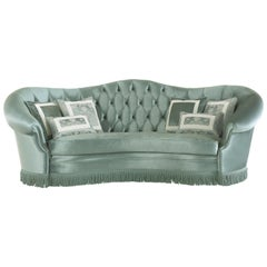 Jumbo Collection Olivia Sofa in Wood and Velvet