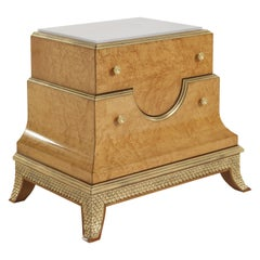 Jumbo Collection Pleasure Nightstand in Wood and Onyx Top