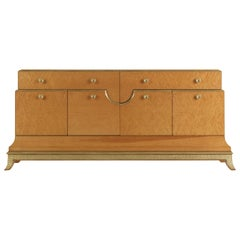 Jumbo Collection Pleasure Sideboard in Maple with Brass