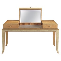Jumbo Collection Pleasure Toilette Dressing Table in Wood and Drawer in Leather