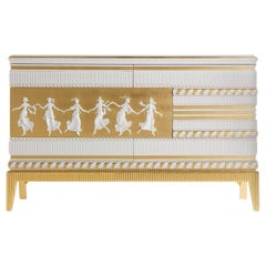 Jumbo Collection Portland Chest of 6 Drawers in Wood and Marble Top