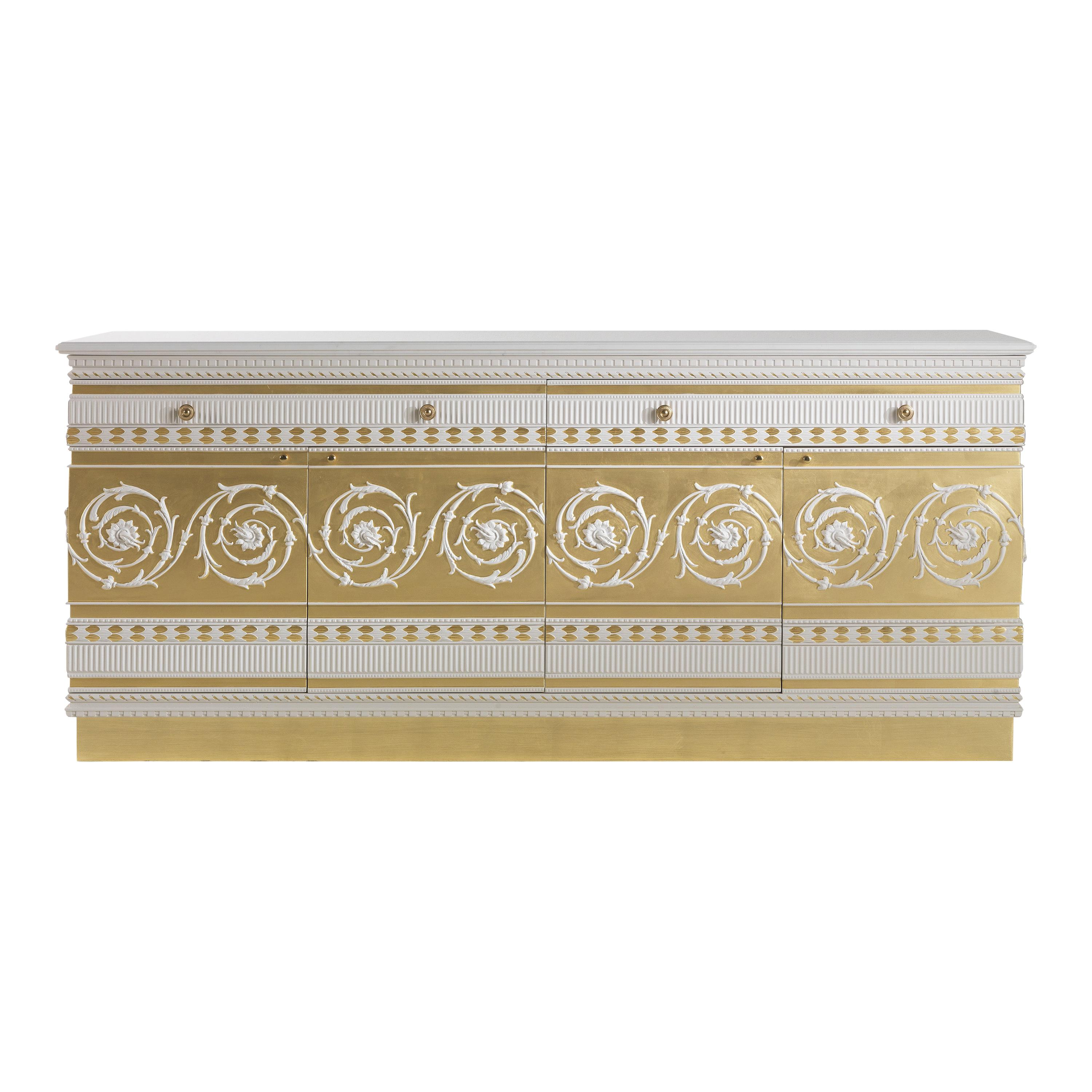 Jumbo Collection Portland Sideboard in Wood and Marble