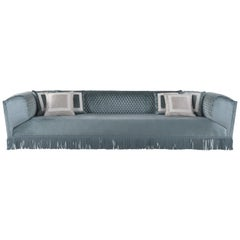 Jumbo Collection Saturno 3-Seat Sofa in Wood and Velvet