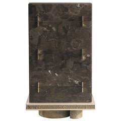 Jumbo Collection Shinto Tall Chest of 6 Drawers in Marble and Wood