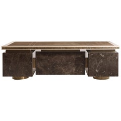 Jumbo Collection Shinto Writing Desk in Wood and Brass Base