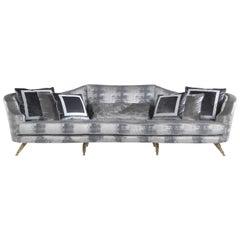 Jumbo Collection Shogun 3-Seat Sofa in Wood and Fabric