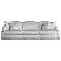 Jumbo Collection Wheidon 3-Seat Sofa in Wood and Fabric