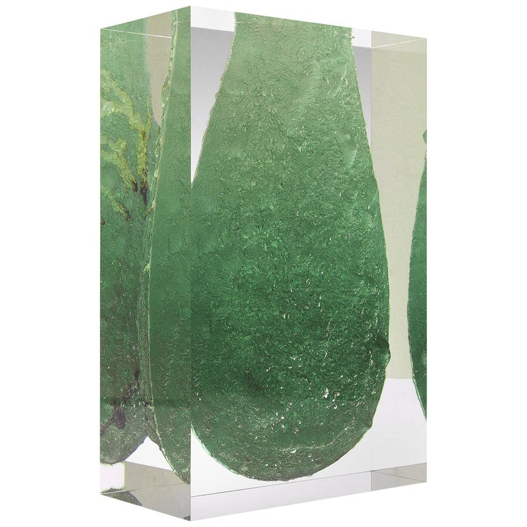 For Sale: Green (Emerald) Jumbo Group/JCP Universe Glacoja Vase by Analogia Project