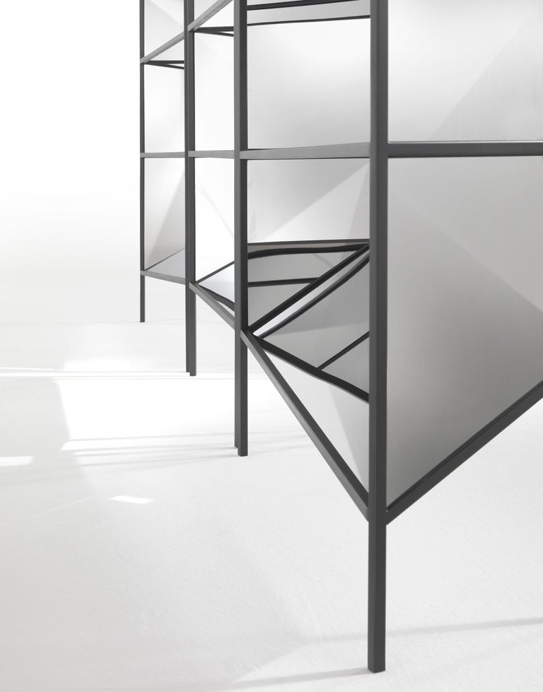 Modern Jumbo Group/JCP Universe Set of Three Perfect Bookshelves-Cabinets by Sam Baron For Sale