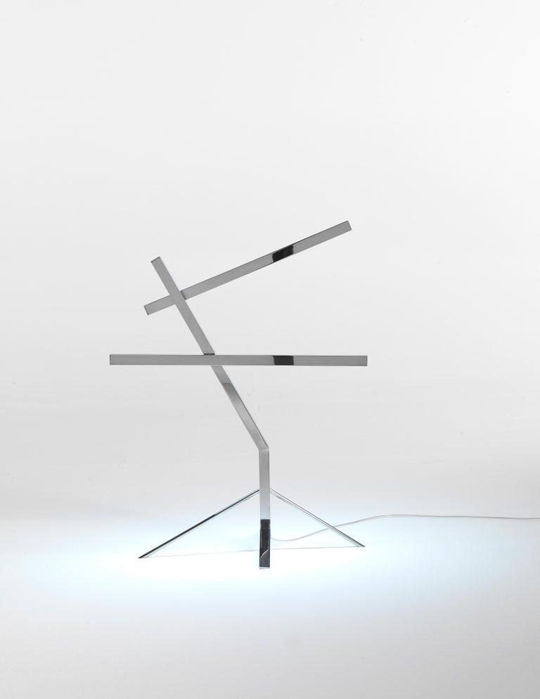 Italian Jumbo Group/JCP Universe Sun-Ra Bird Table Lamp by Nanda Vigo For Sale