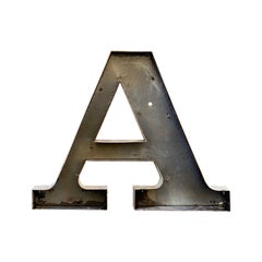 Jumbo Midcentury Channel Letter A