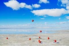 Gravity #007 – Jun Ahn, Photography, Apple, Abstract, Sky, Nature, Surealism