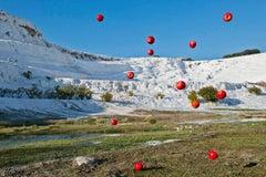 Gravity #010 – Jun Ahn, Photography, Apple, Abstract, Sky, Nature, Surealism