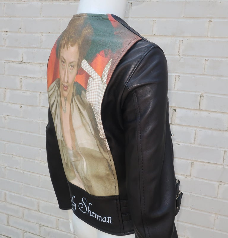 Jun Takahashi Undercover Cindy Sherman Black Leather Motorcycle Jacket For Sale 7