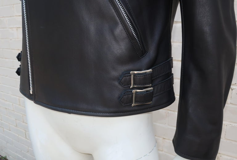 Jun Takahashi Undercover Cindy Sherman Black Leather Motorcycle Jacket For Sale 1
