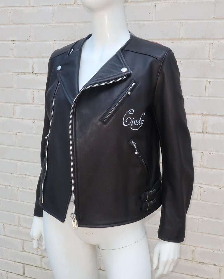 Jun Takahashi Undercover Cindy Sherman Black Leather Motorcycle Jacket For Sale 2