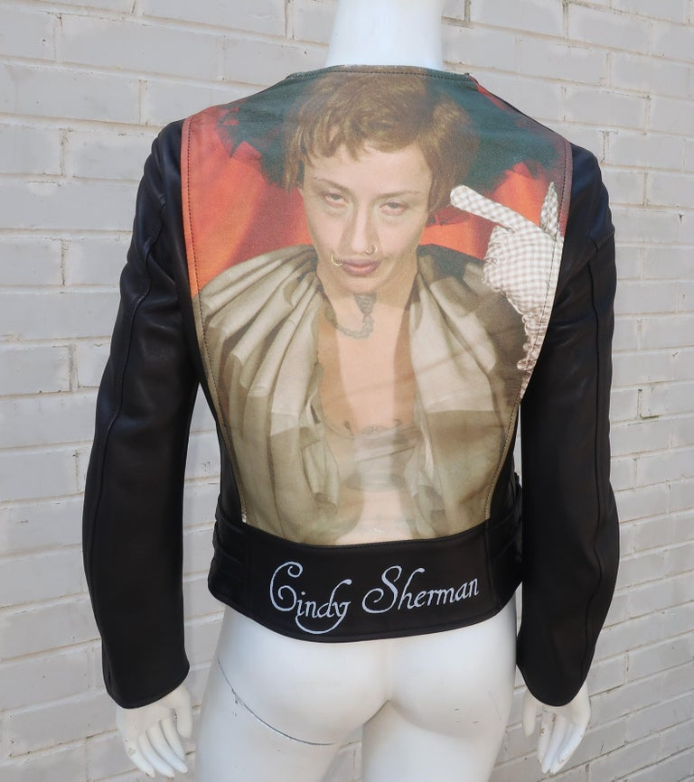 Jun Takahashi Undercover Cindy Sherman Black Leather Motorcycle Jacket For Sale 3
