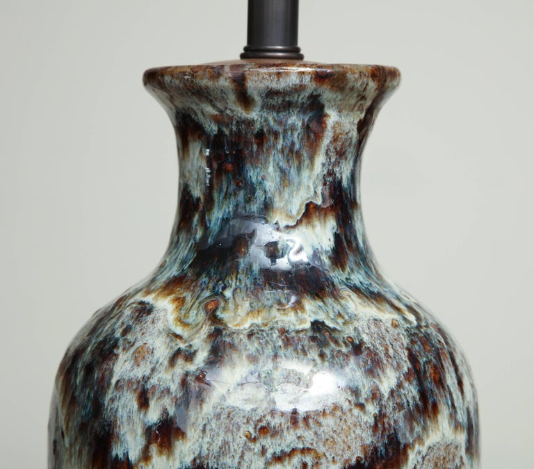 19th Century Jun Ware Lamp For Sale