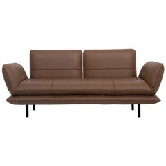 Juna Convertible Leather Sofa by FSM