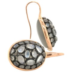 Junagarh Moonstone Pink Gold 18 Karat Earrings