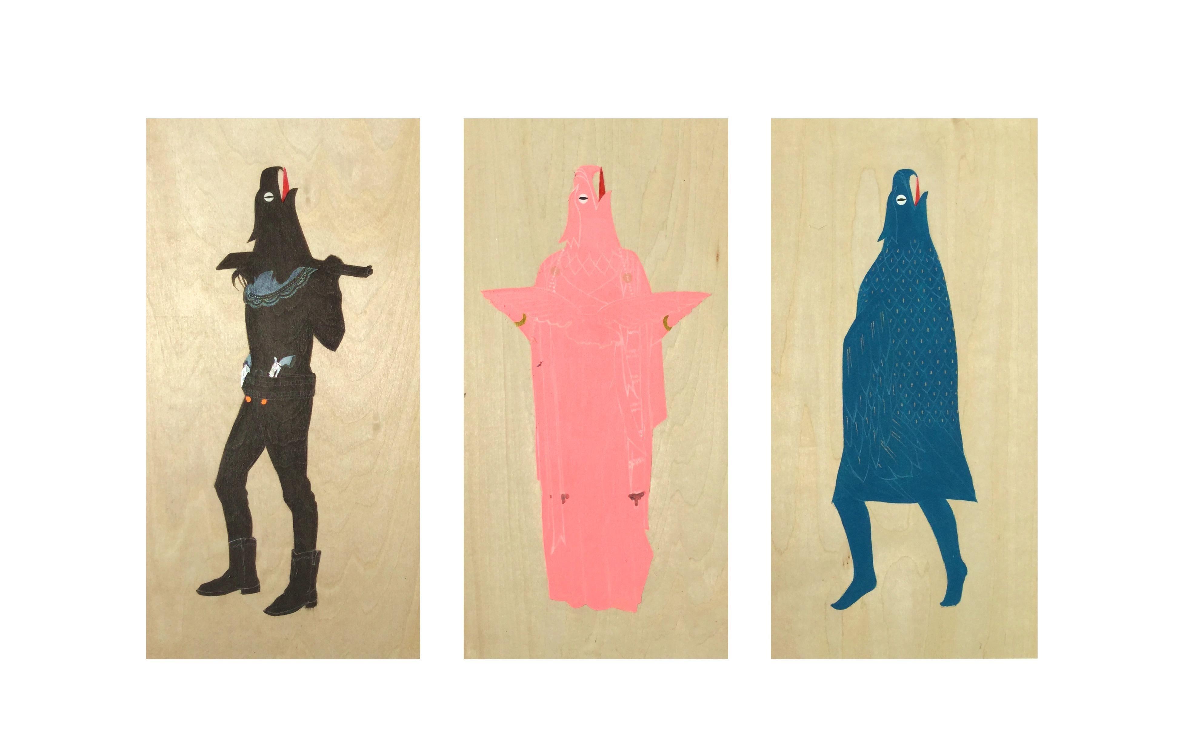 The Eagle Ladies VI (triptych)