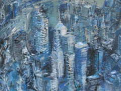 City Abstract, Painting, Acrylic on Canvas