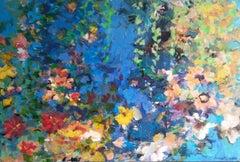 """""""Night Garden"""", Painting, Acrylic on Canvas"""