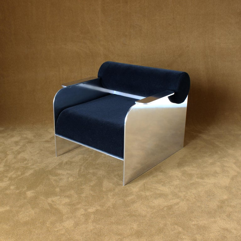 Art Deco June Modern Lounge and Club Chair Indoor or Outdoor For Sale