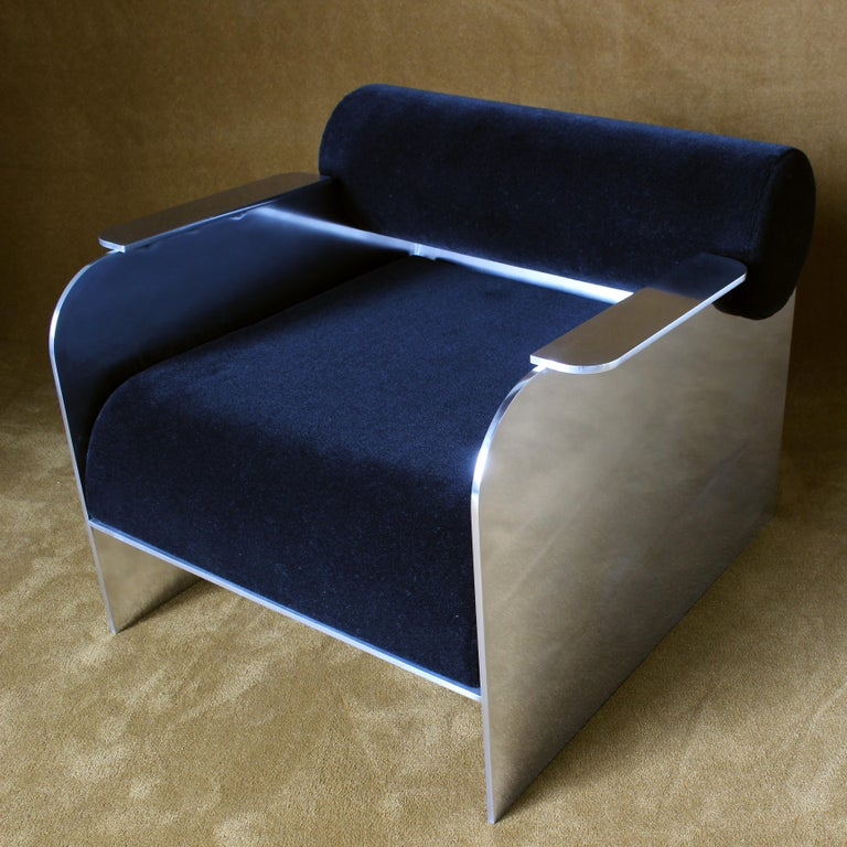 American June Modern Lounge and Club Chair Indoor or Outdoor For Sale