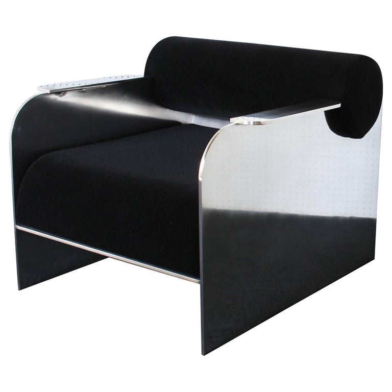 June Modern Lounge and Club Chair Indoor or Outdoor For Sale