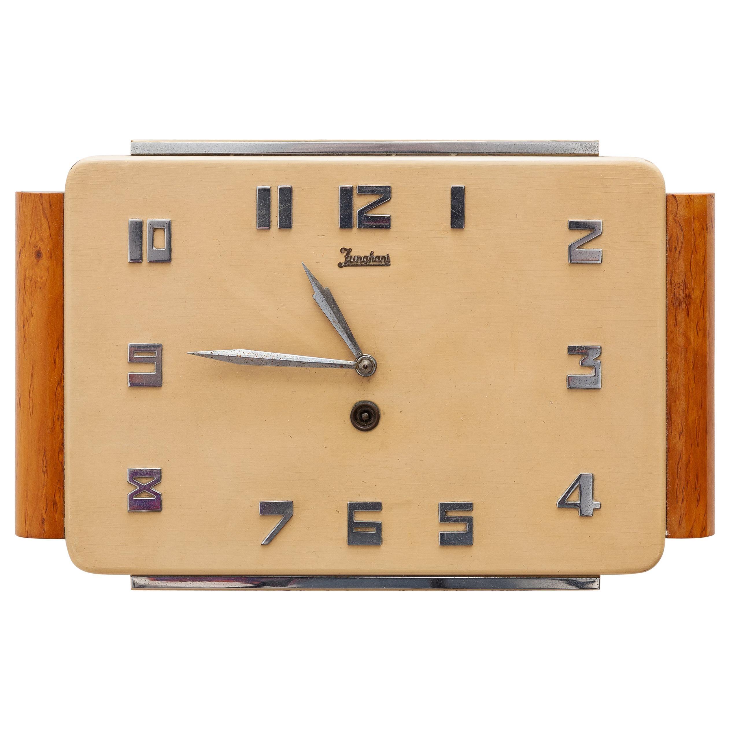 Junghaus Wall Clock Art Deco, Germany