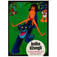 Jungle Book Original Czech Film Movie Poster, Hlavaty, 1974 Vintage Rare Disney