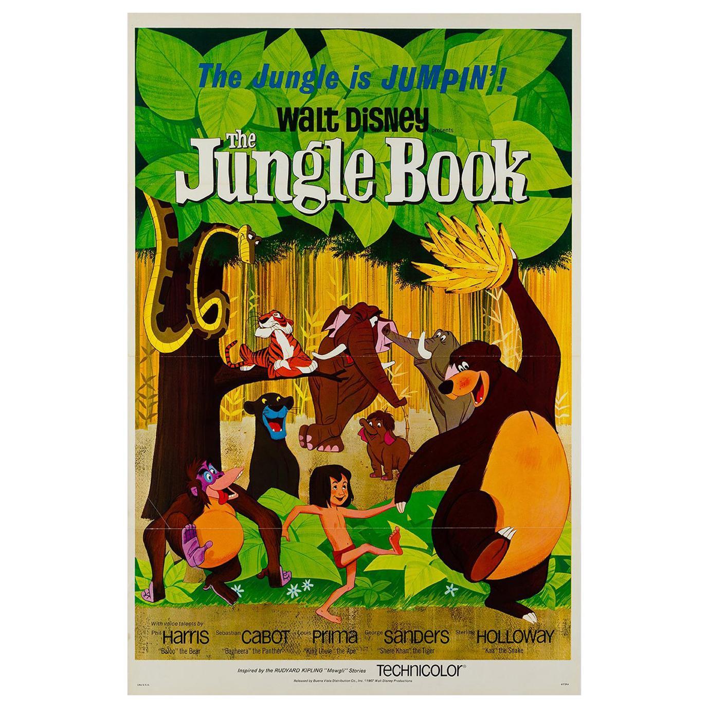 Jungle Book Original US Film Poster, 1967