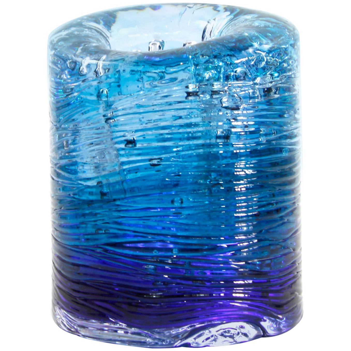Jungle Contemporary Vase, Small Bicolor Blue and Violet by Jacopo Foggini