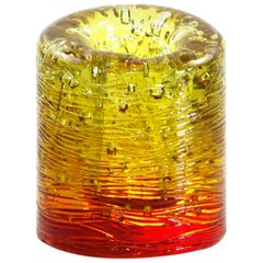 Jungle Contemporary Vase, Small Bicolor Gold and Red by Jacopo Foggini