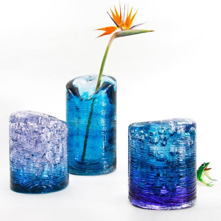 Jungle Contemporary Vase, Small Bicolor Gold and Violet by Jacopo Foggini For Sale 2