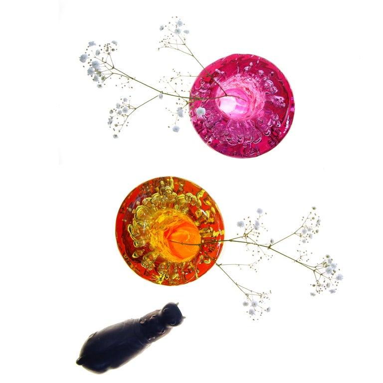 Jungle Contemporary Vase, Small Bicolor Gold and Violet by Jacopo Foggini For Sale 3