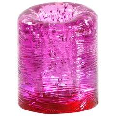 Jungle Contemporary Vase, Small Bicolor Pink and Red by Jacopo Foggini