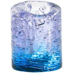 Jungle Contemporary Vase, Small Bicolor Transparent and Blue by Jacopo Foggini