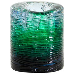 Jungle Contemporary Vase, Small Bicolor Transparent and Green by Jacopo Foggini